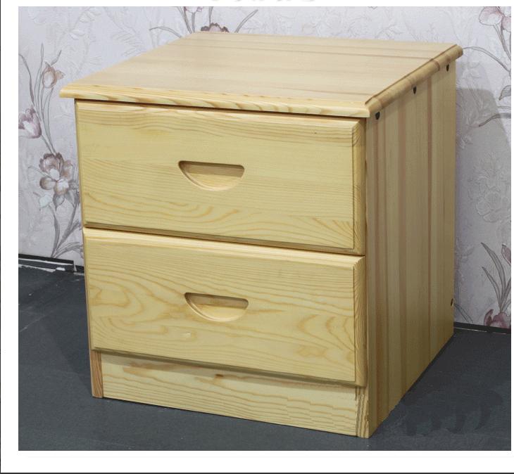特價 實木床頭櫃 松木床頭櫃收納櫃 雙抽屜床頭櫃 全實木儲物櫃