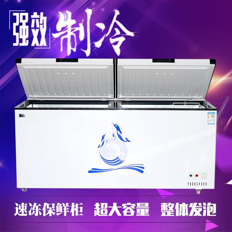 海豚王子卧式冷柜大冰柜商用大容量冷冻冷藏柜节能单温双温速冻柜