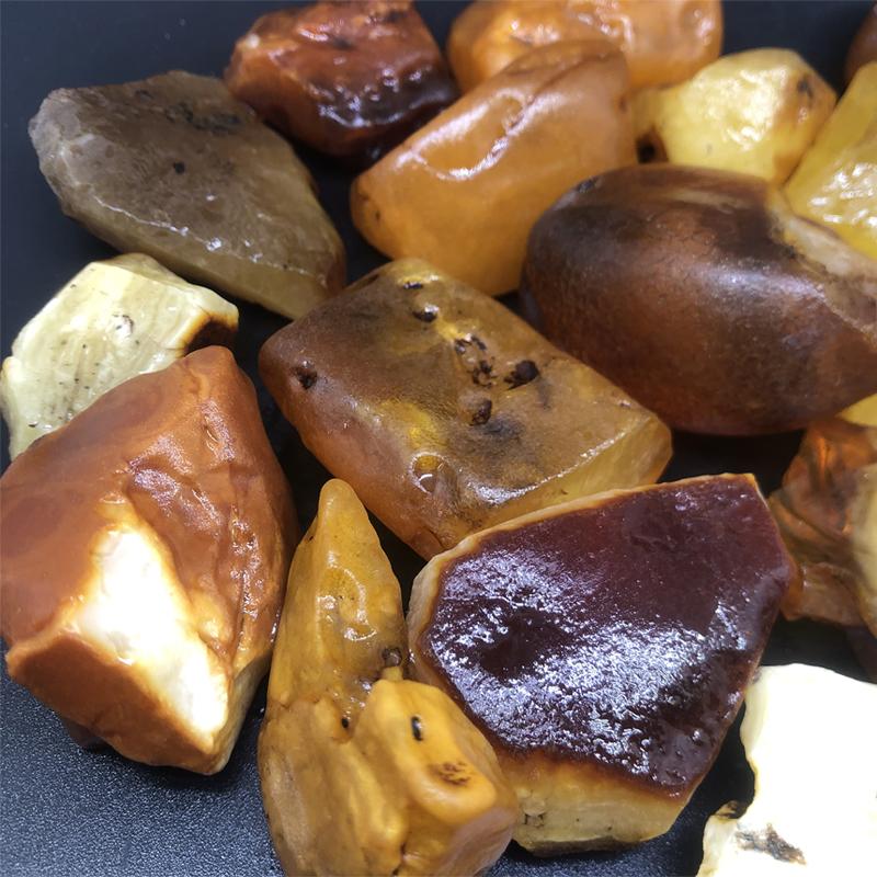 特价大块原矿琥珀蜜蜡原石练手料