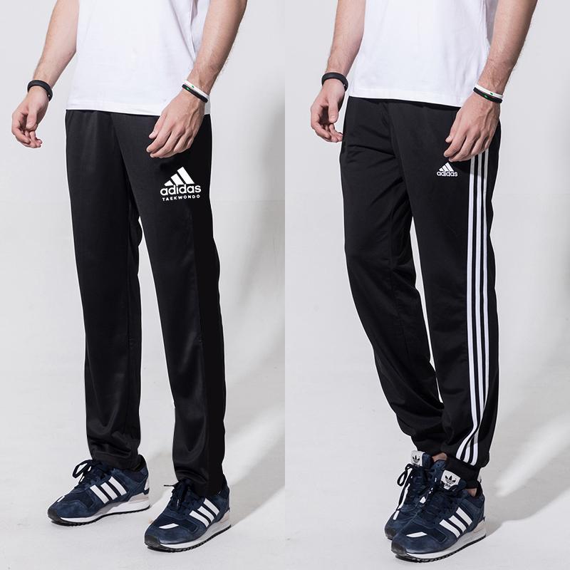 阿迪达斯新款男士运动裤 春季针织休闲束脚长裤收腿卫裤子