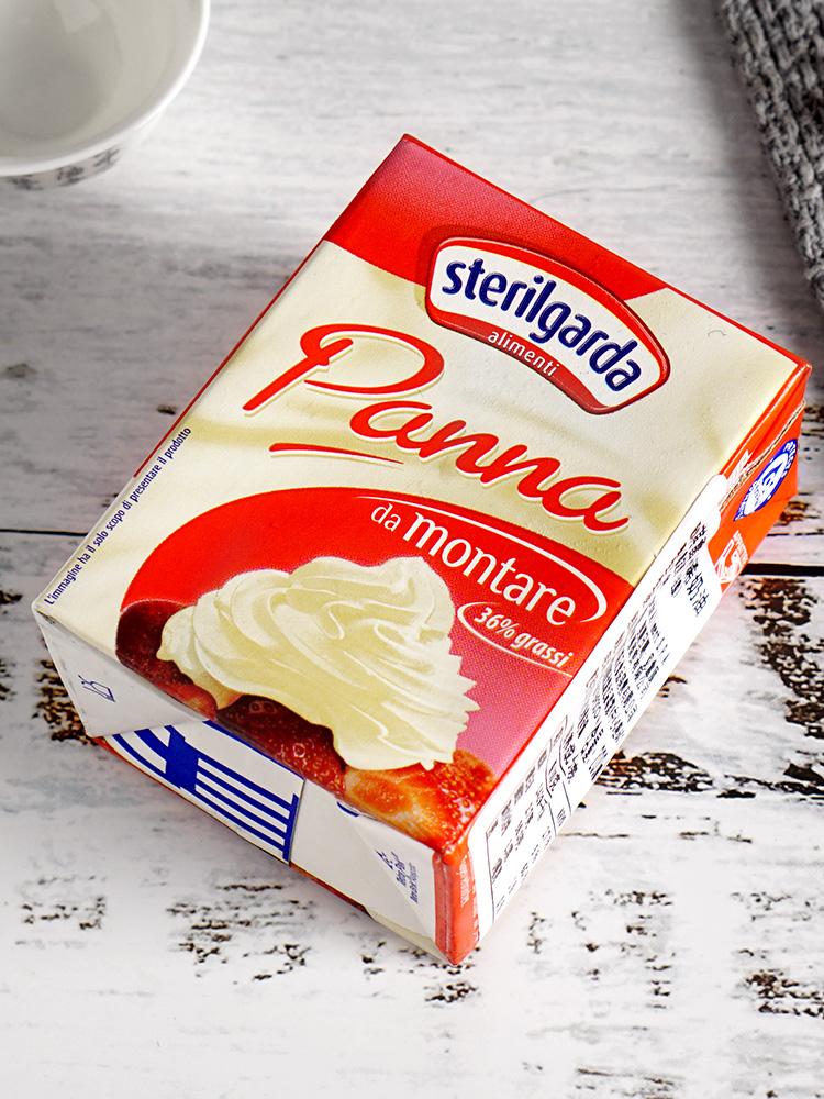 烘焙原料意大利进口琪雷萨淡奶油动物鲜奶油裱花200ml乳脂