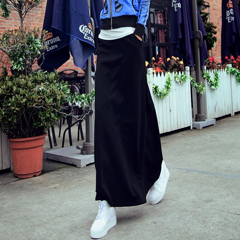 半身裙女2019夏秋新款黑色高腰包臀裙中長款a字裙ins超火的裙子潮