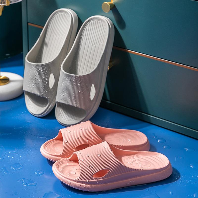 EVA高弹棉花糖脚感,排水槽速干:矇矇兔 居家踩屎感拖鞋
