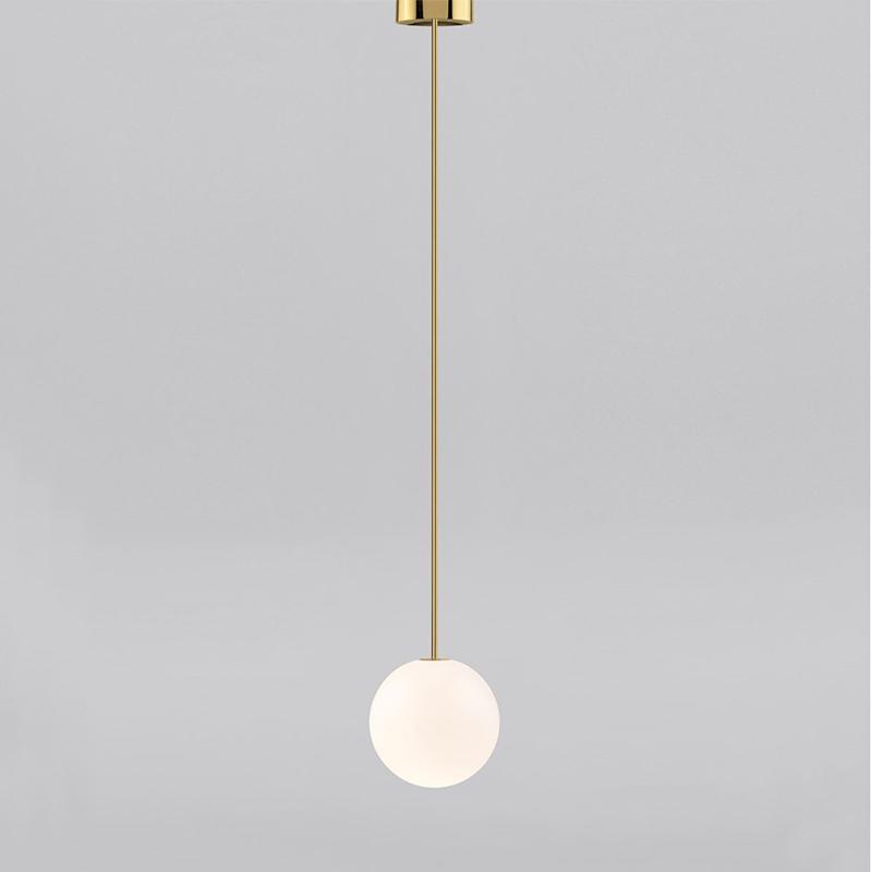 现代简约卧室个姓创意餐厅吧台床头长吊灯轻奢设计师民宿黄铜吊灯