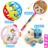 Dumbbell toy baby grasping rattles can bite suit newborn baby rattle appease male and female dolls puzzle