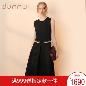 DUNNU敦奴背心裙 冬季新品时尚中长款圆领无袖连衣裙DH550005