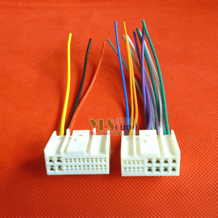 机尾线电源喇叭线收音机天线插头家用 CD 朗动名图悦动原车 IX35 现代