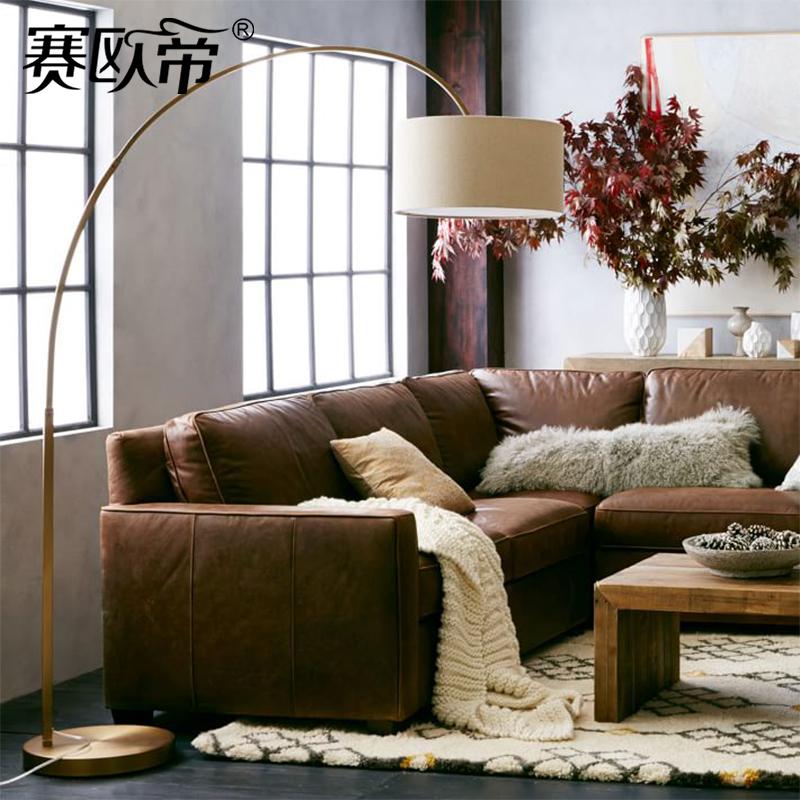 现代简约钓鱼灯北欧风格客厅卧室床头书房创意装饰布艺灯罩落地灯