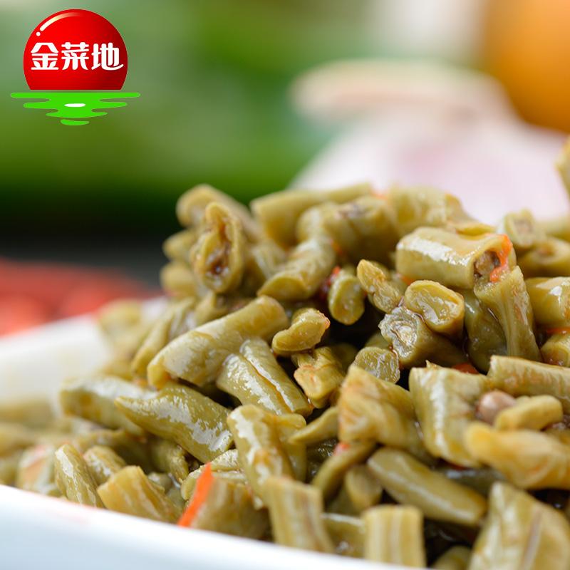 金菜地100g*5袋嫩豇豆香辣酸豆角泡菜小菜酱菜下饭菜腌菜安徽特产
