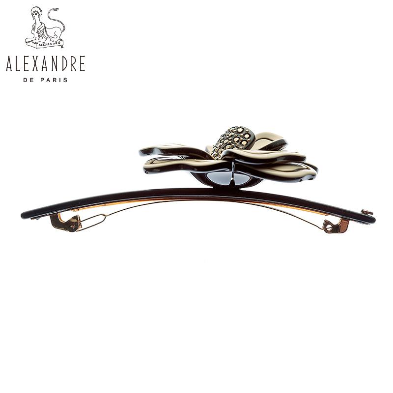 法国Alexandre de Paris亚历山大茂盛系列10公分发夹顶夹