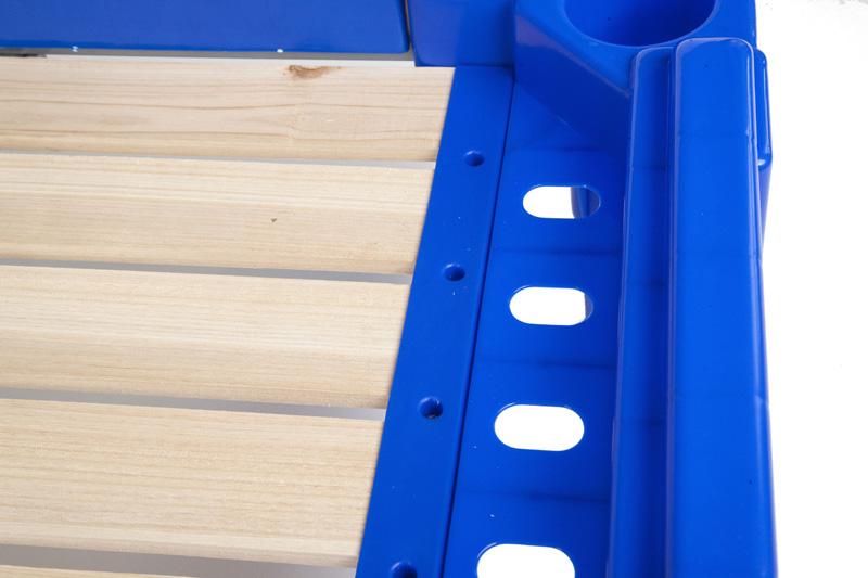 幼儿园塑料木板床幼儿床午睡床午休床儿童木床拆装叠加改良塑料床