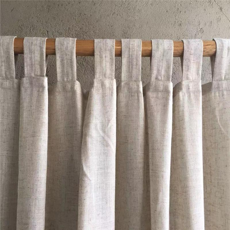 天然亚麻窗帘成品简约现代麻布遮光落地窗客厅卧室棉麻窗帘定制