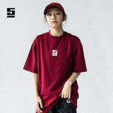SINOSTAGE solid color T-shirt Franklin Yu Yanlin same men and women hip-hop dance printing short sleeves