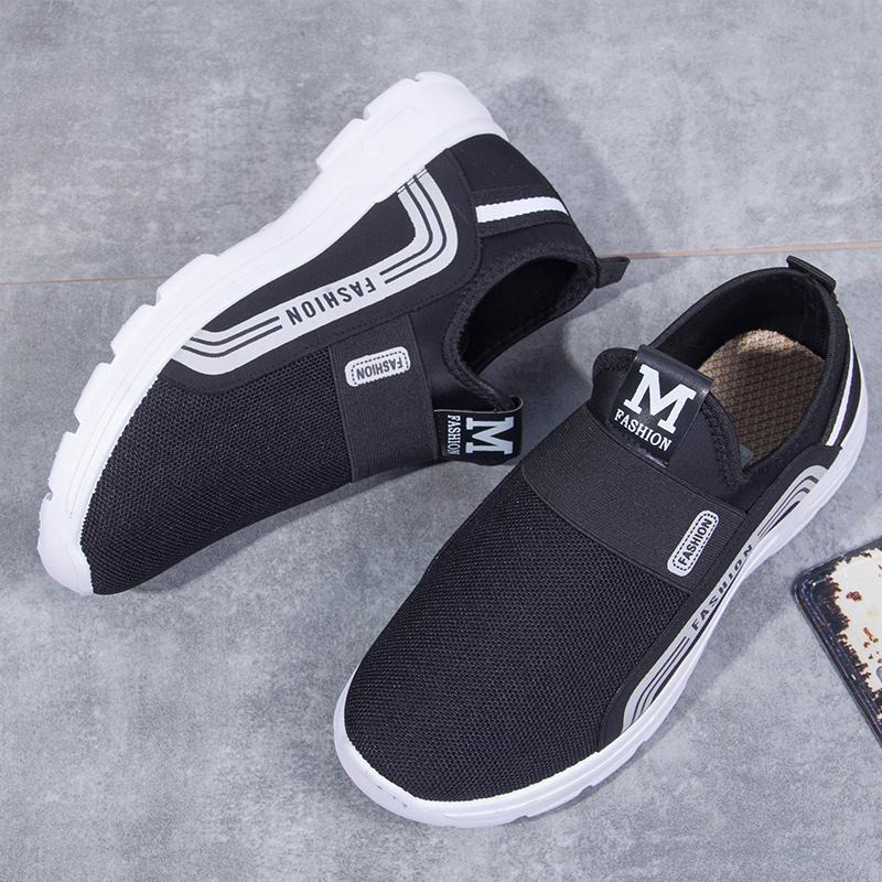 【老年爸爸鞋】老人防滑男士帆布鞋