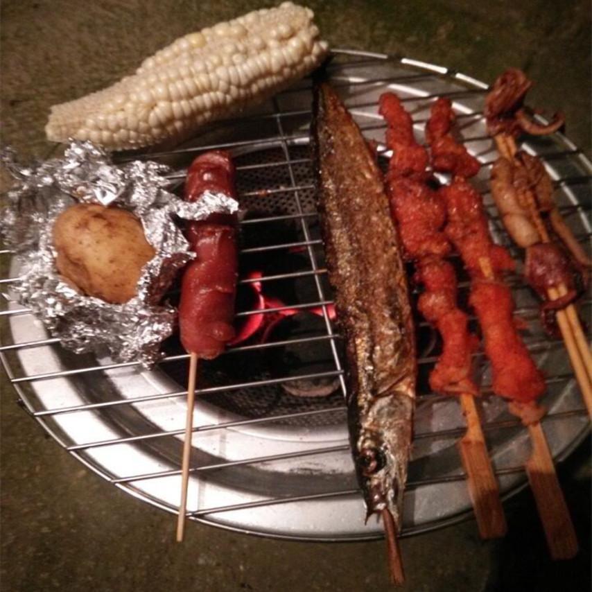 便携户外野炊炉具野营用品野餐室外烧烤炉露营简易自驾游柴火炉子