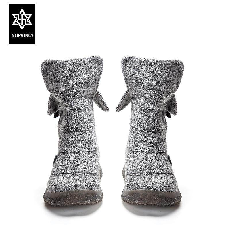 诺凡希情侣款棉鞋冬季保暖男雪地靴冬鞋防滑韩版潮流百搭靴子中筒