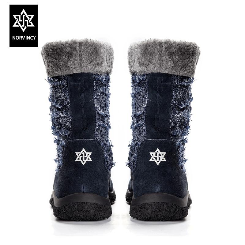 诺凡希 冬季新款男士靴子保暖雪地靴男中筒日系加绒侣靴男靴套筒