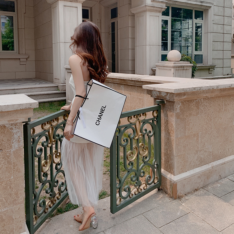 小礼服女简单大方晚宴派对白色礼服名媛气质伴娘平时可穿连衣裙子