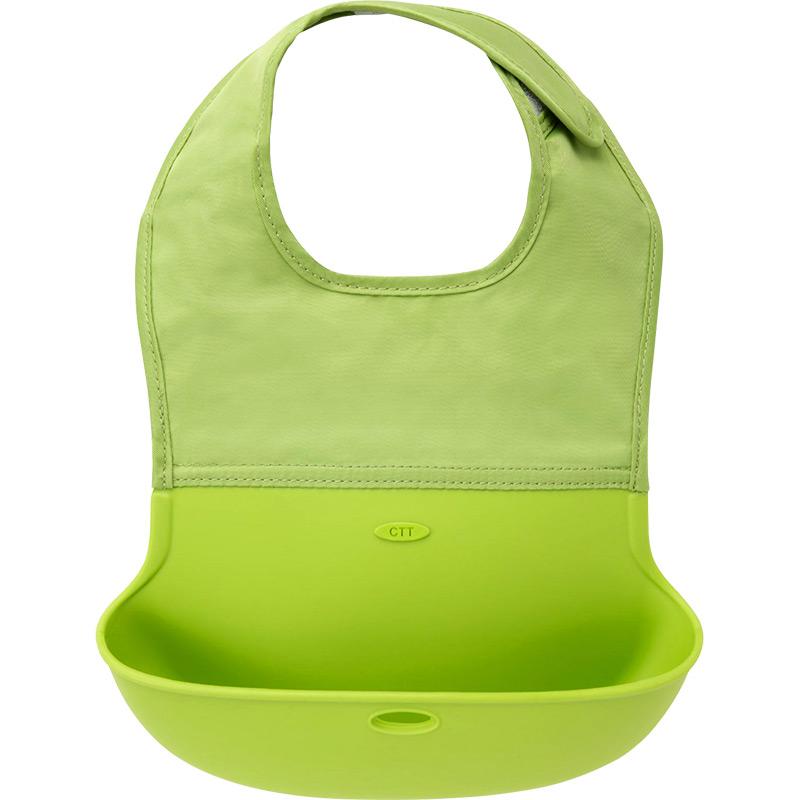 英国CTT硅胶宝宝饭兜儿童围兜婴儿围嘴防水立体吃饭兜口水兜