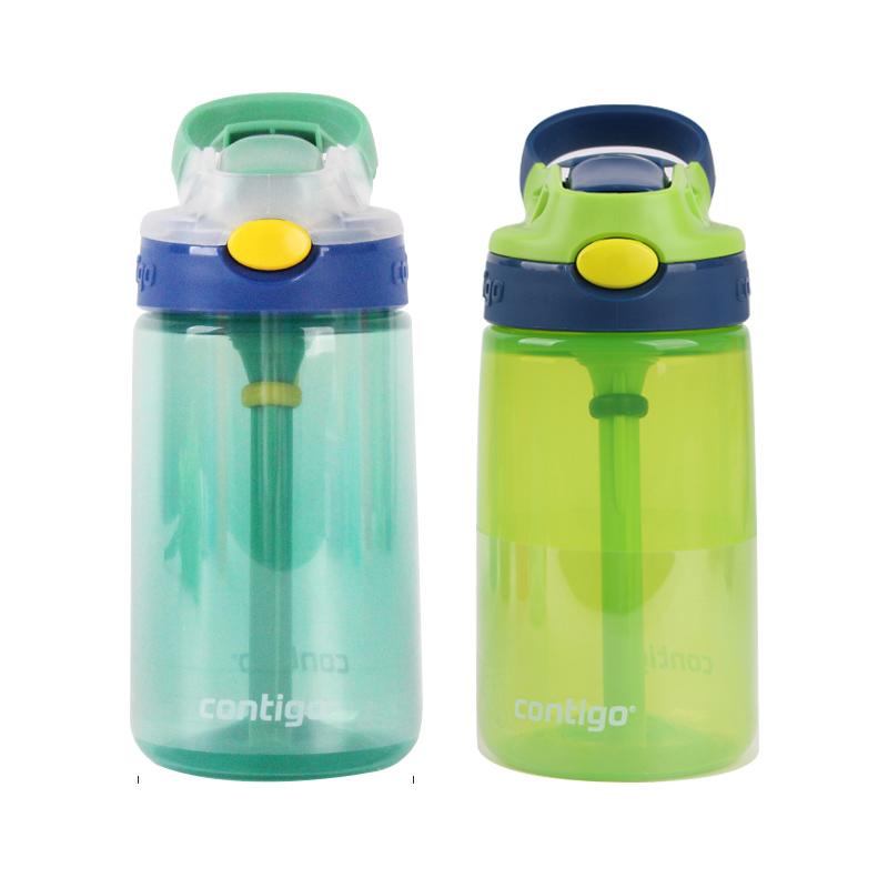 美国进口Contigo康迪克水杯儿童吸管杯防摔防漏幼儿园宝宝喝水杯