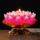 小和尚莲花灯供佛蜡烛家用祈福许愿荷花灯河灯漂流灯酥油灯荷花蜡 mini 2