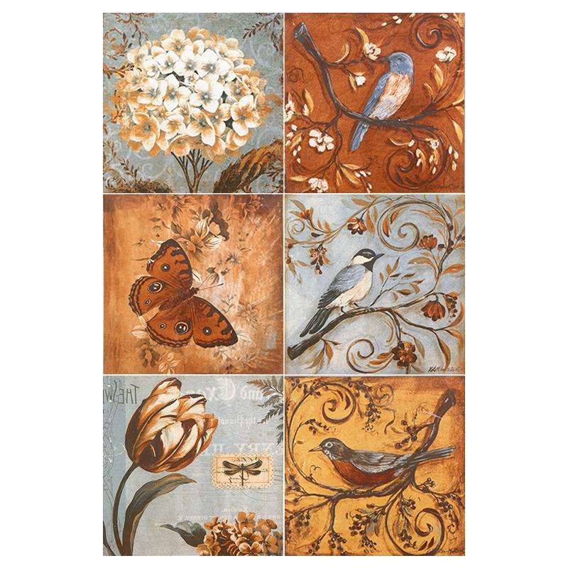 小瓷砖花砖美式复古仿古墙砖厨房卫生间艺术手工地砖 300x300 北欧