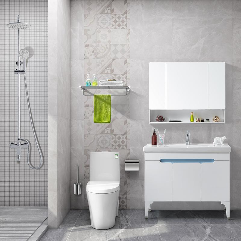浪鲸卫浴室柜组合镜柜小户型洗手脸盆卫生间洗漱台现代简约北欧A0