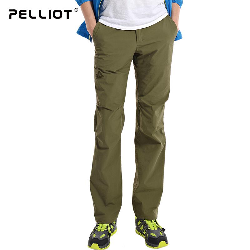 伯希和户外速干裤男女夏季弹力薄款宽松休闲运动快干裤登山裤长裤