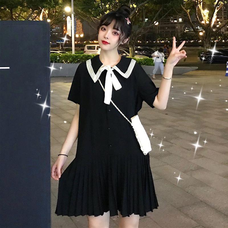 大码女装夏装2021年新款洋气雪纺轻熟风夏天连衣裙子法式显瘦气质