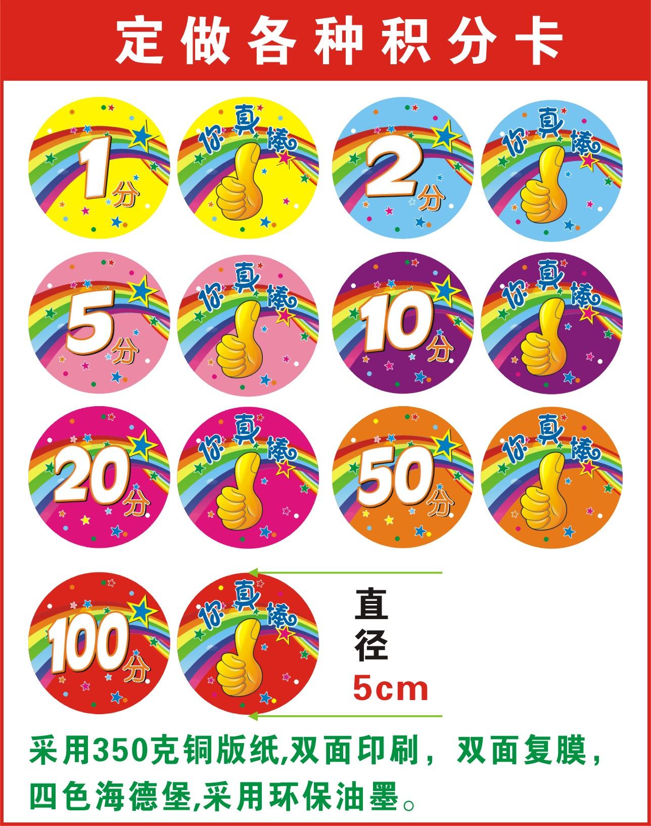 中小学生幼儿园乐学币奖励卡片儿童积分卡鼓励卡乐学币奖励卡定制