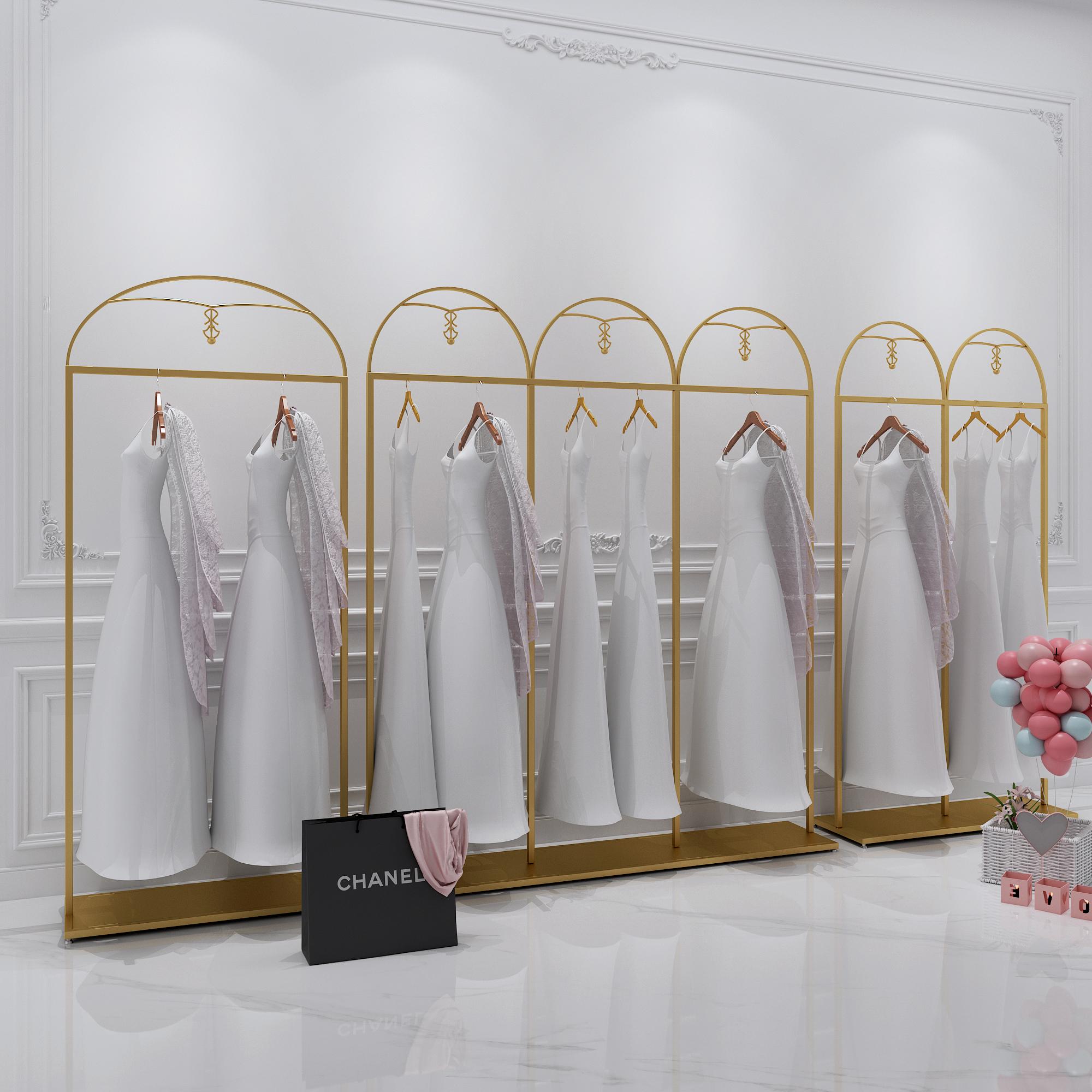 婚纱架高档礼服旗袍展示架 秀禾挂婚纱架子落地服装架衣服货架