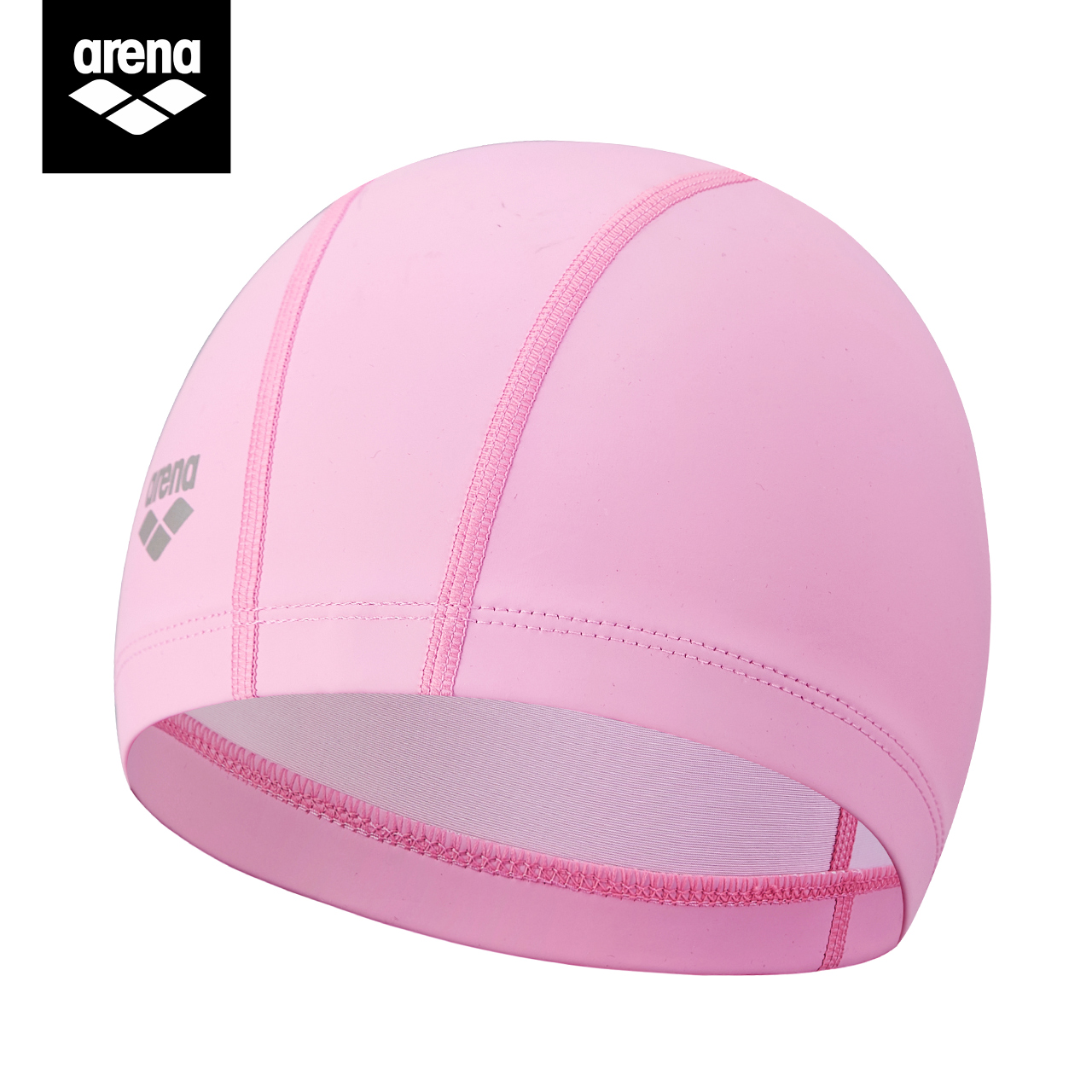 arena阿瑞娜双材质泳帽女高弹不勒头长发游泳装备成人男士游泳帽