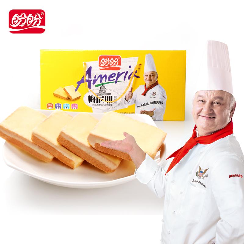 盼盼梅尼耶干蛋糕 早餐食品面包饼干整箱散装休闲零食奶香1kg