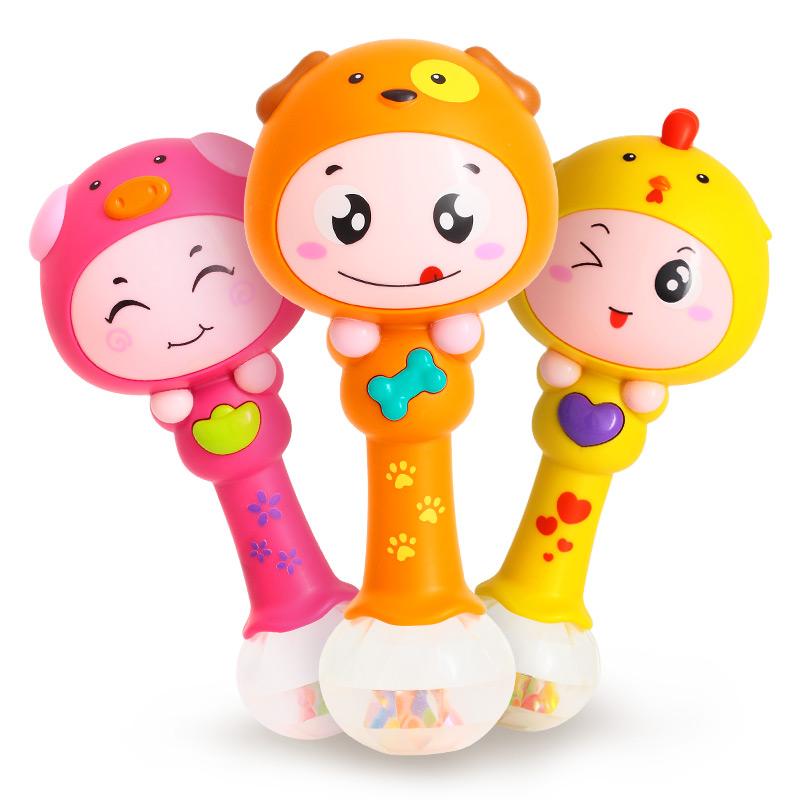 汇乐817十二生肖节奏摇铃宝宝音乐手摇铃婴儿新生儿童玩具3-6个月