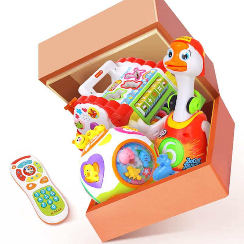 汇乐趣味智慧小屋婴儿摇摆鹅儿童益智学习益智球 宝宝早教玩具