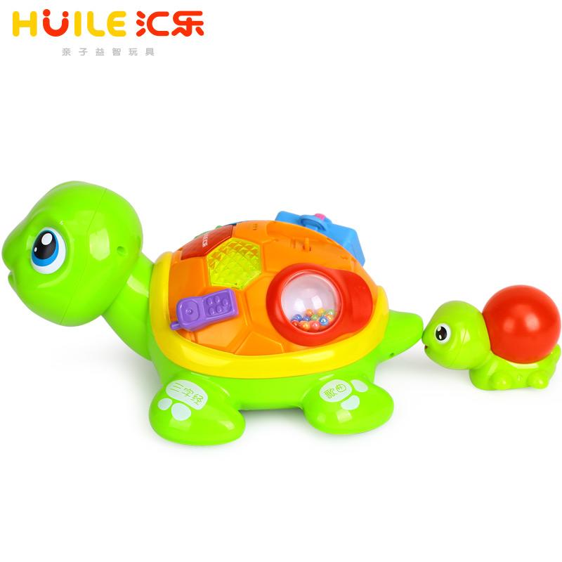 汇乐868亲子乌龟电动益智学爬行儿童1-3岁12-18个月宝宝婴儿玩具