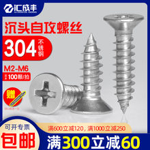 304 stainless steel self-tapping screws Phillips head screws wood screws grub screw extended M2M3M4M5M6