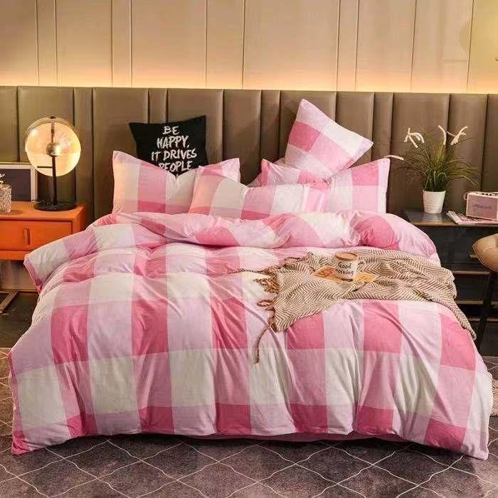 件套加厚保暖床上用品 4 面牛奶绒被罩床单 AB 宝宝绒四件套冬季 清仓