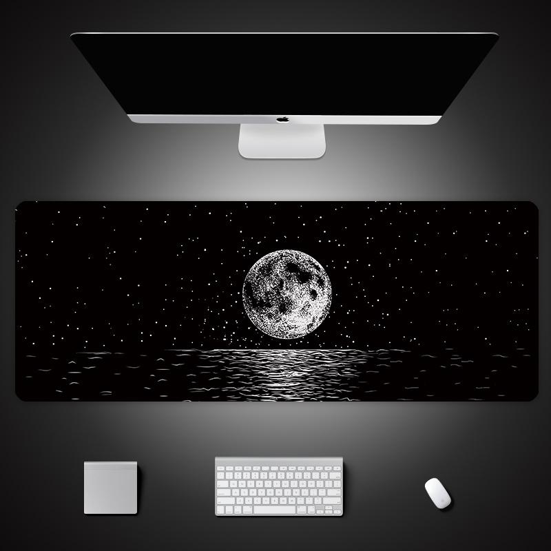 鼠標墊超大卡通創意電腦桌墊家用游戲加厚外星人個姓電競鍵盤墊大