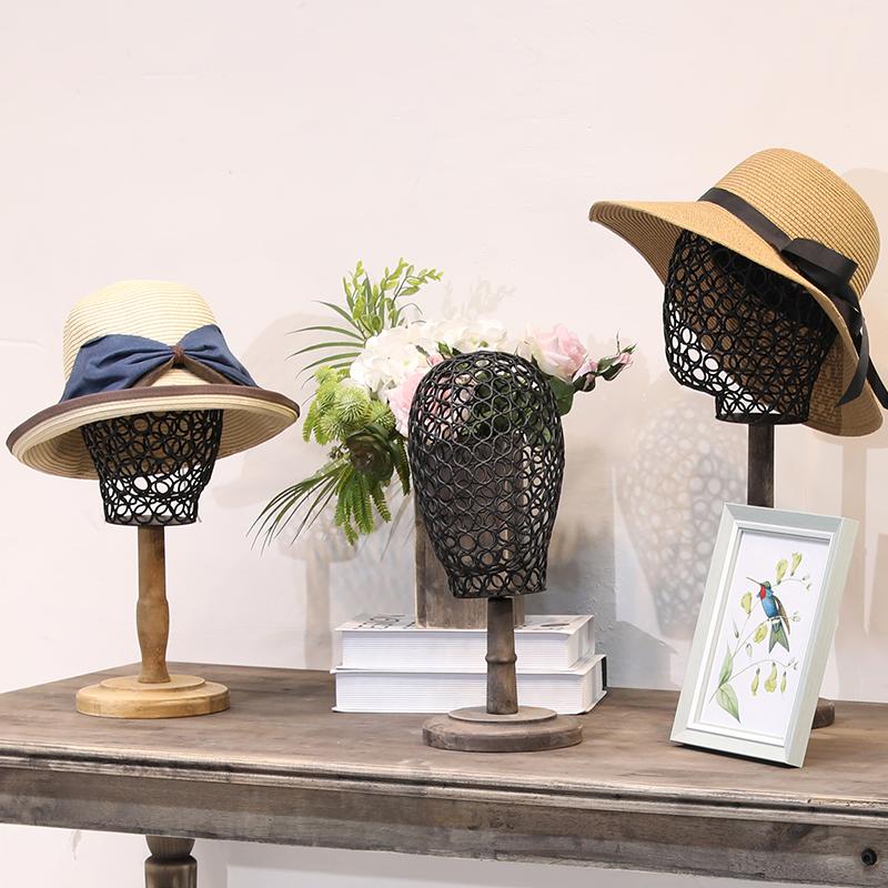 个性帽女服装店模特头帽子架复古拍摄用品装饰头人台假头橱窗展示