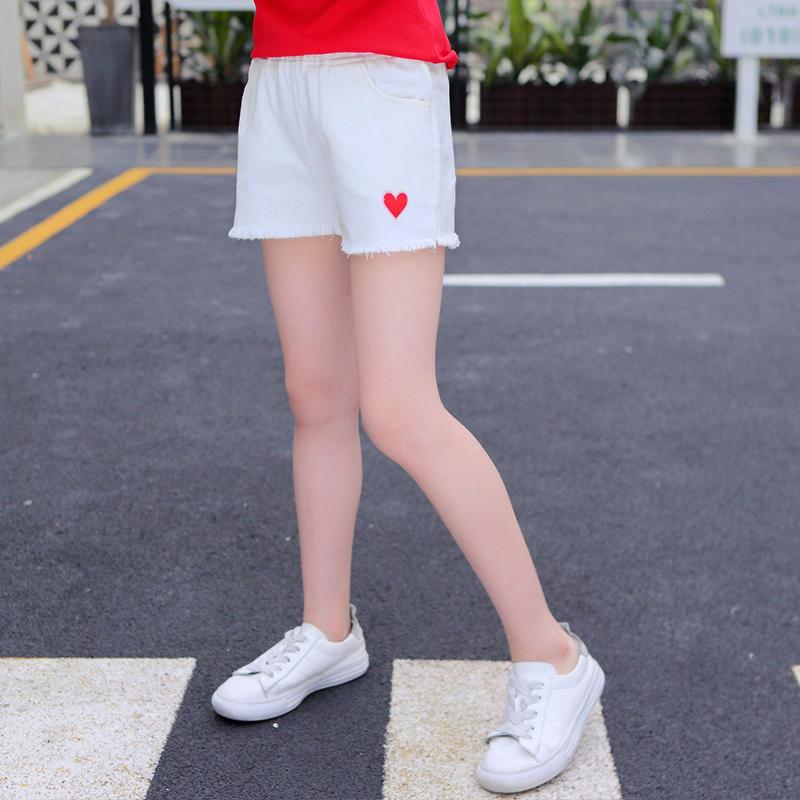 女童短裤夏2018新款宝宝白色牛仔裤纯棉儿童热裤外穿薄款夏装裤子