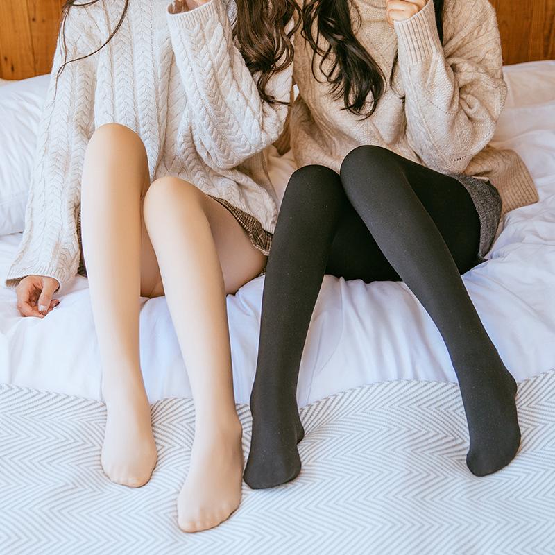 2021年新款打底裤秋冬女加绒外穿加厚显瘦韩版冬季连裤袜连脚长裤