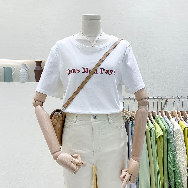 T恤设计感宽松洋气超a上衣潮