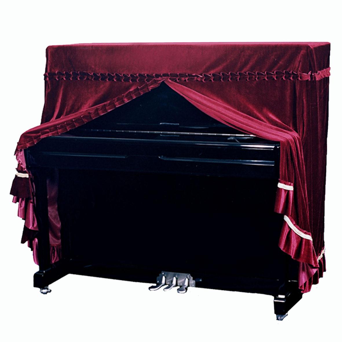 意大利加厚丝绒钢琴罩全罩布艺高档琴套防尘凳罩欧式简约现代包邮
