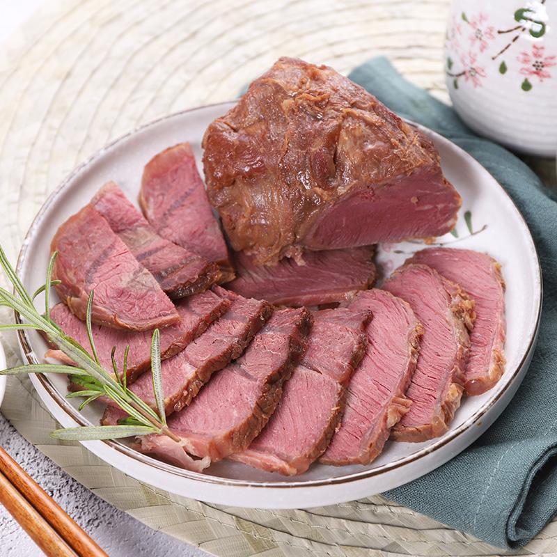 袋即食牛肉酱卤熟食牛肉内蒙古特产 4 200g 科尔沁酱卤牛肉五香