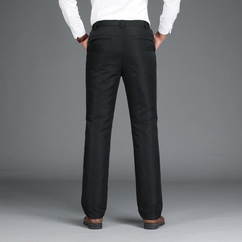 羽绒裤男外穿中老年男士高腰鸭绒内胆可脱卸休闲修身加厚保暖棉裤