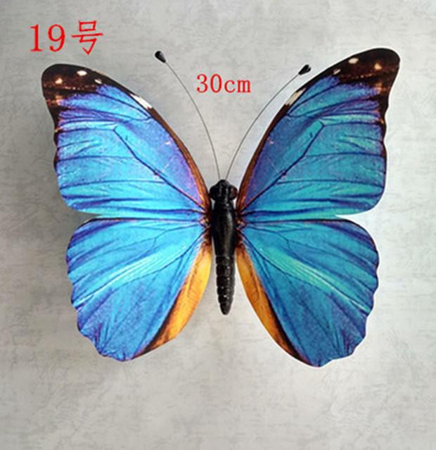 30cm仿真蝴蝶大型商场布景婚庆装饰立体吊挂蝴蝶橱窗装饰摄影道具