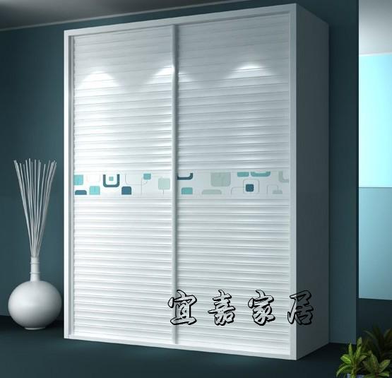 定做木塑塑钢百叶推拉门玻璃移门趟门壁柜滑门动衣柜门铝合金定制
