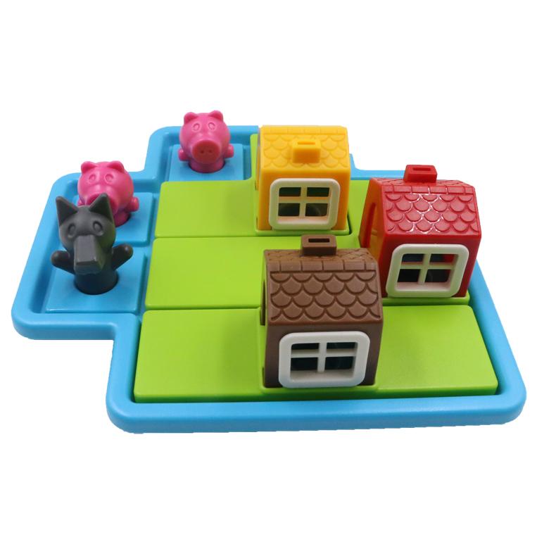 小乖蛋 三只小猪 智能拼图玩具闯关益智儿童玩具逻辑思维桌游8813