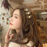 Ins net red hairpin female Korean style simple side clip five-pointed star bangs clip hairpin headdress